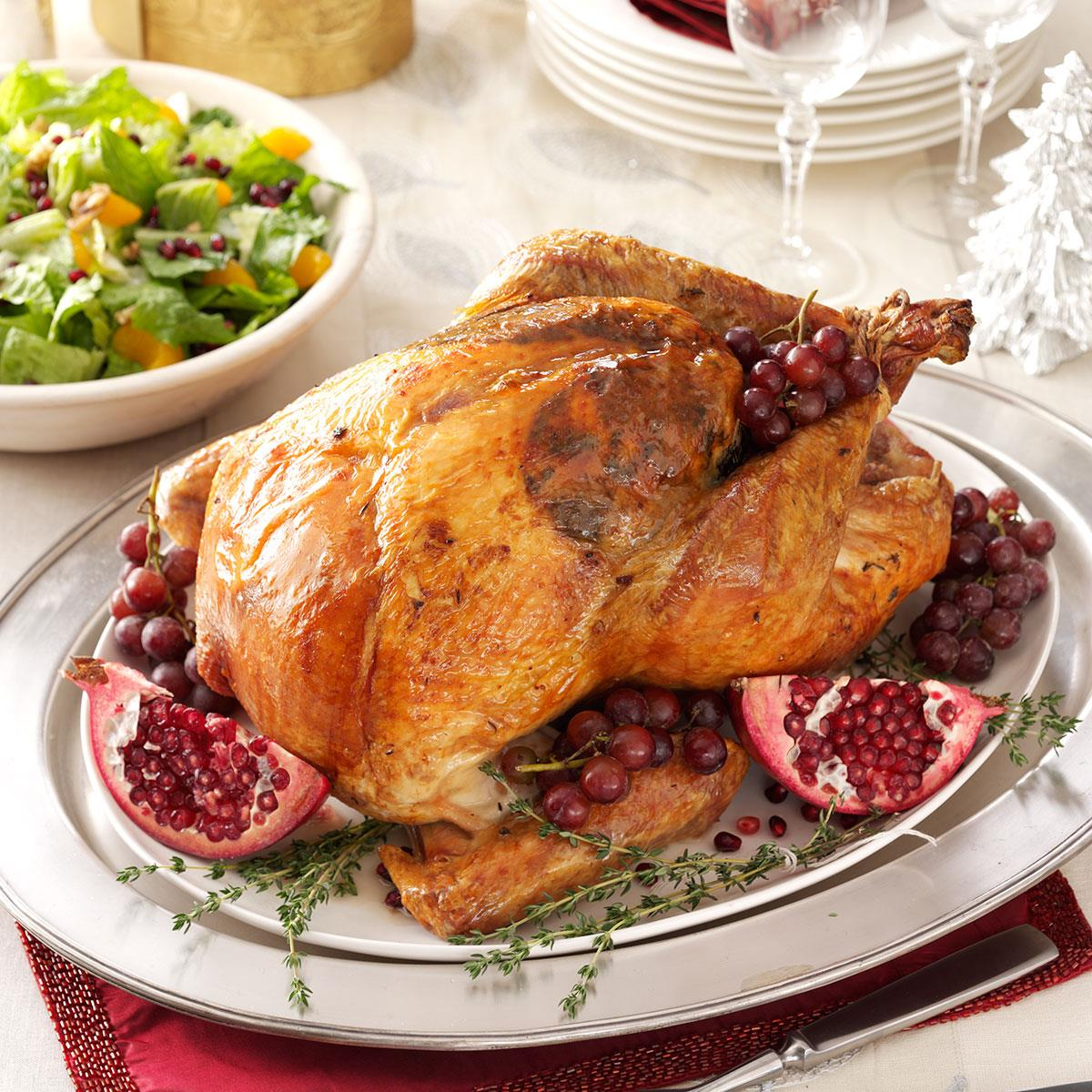 Roast Turkey With Sausage Cabbage Stuffing Recipe Taste Of Home