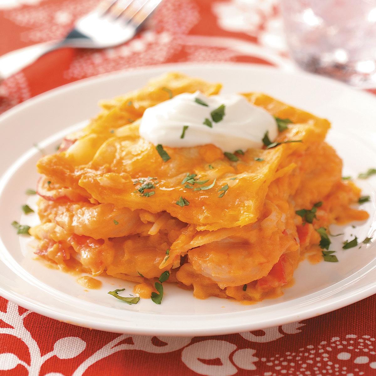 Seafood tortilla lasagna recipe taste of home forumfinder Image collections