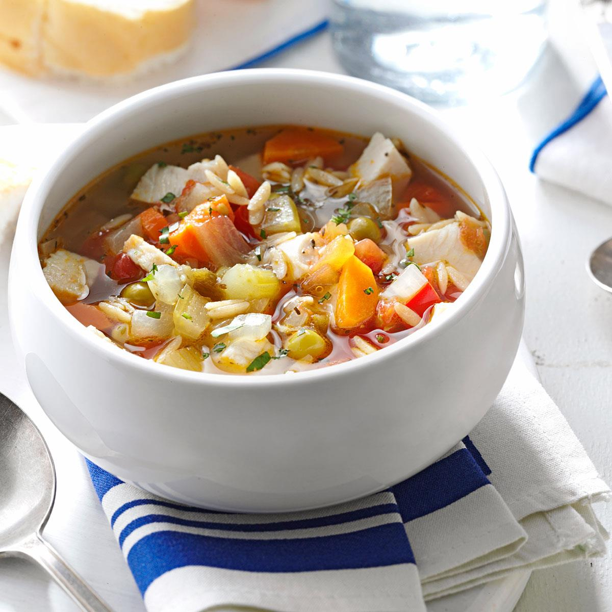Skinny Turkey Vegetable Soup Recipe Taste Of Home