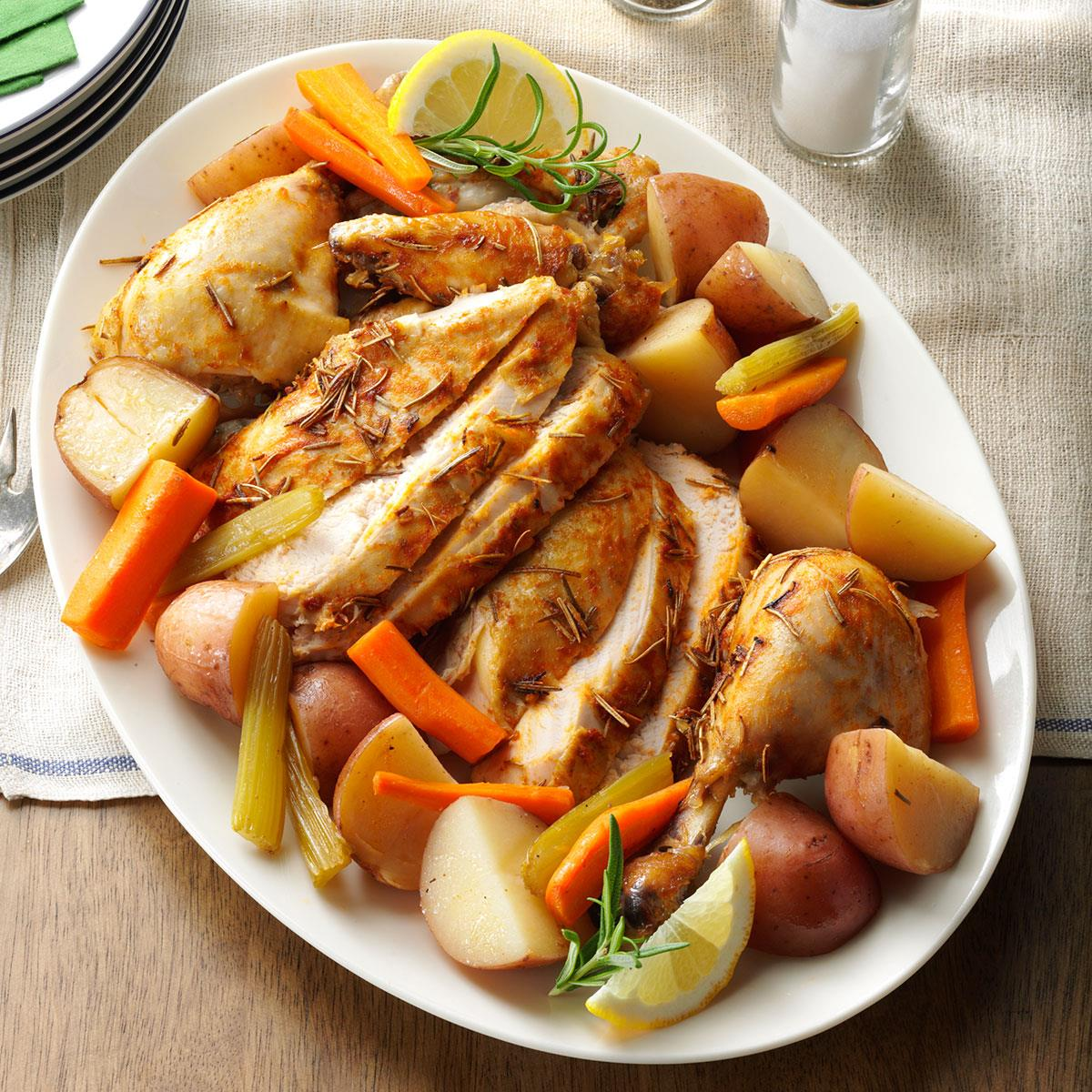 Slow roasted chicken with vegetables taste of home forumfinder Images