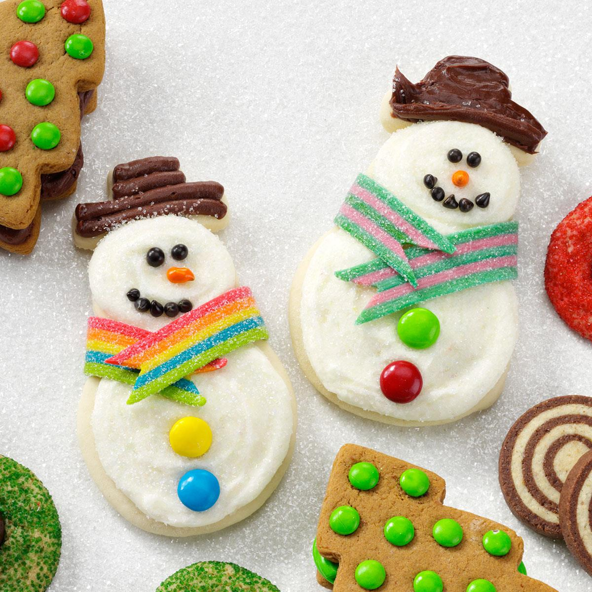 Snowman Butter Cutouts Recipe | Taste of Home