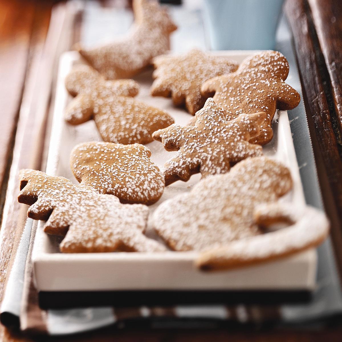 Soft Molasses Cutout Cookies