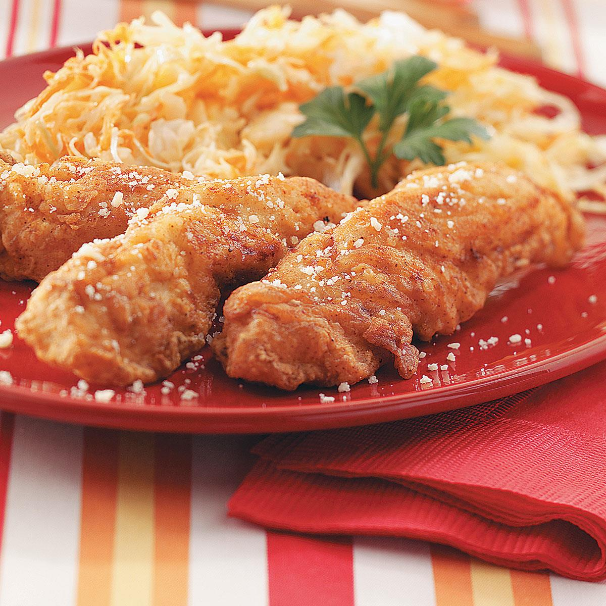 Southern fried chicken strips recipe taste of home forumfinder Image collections