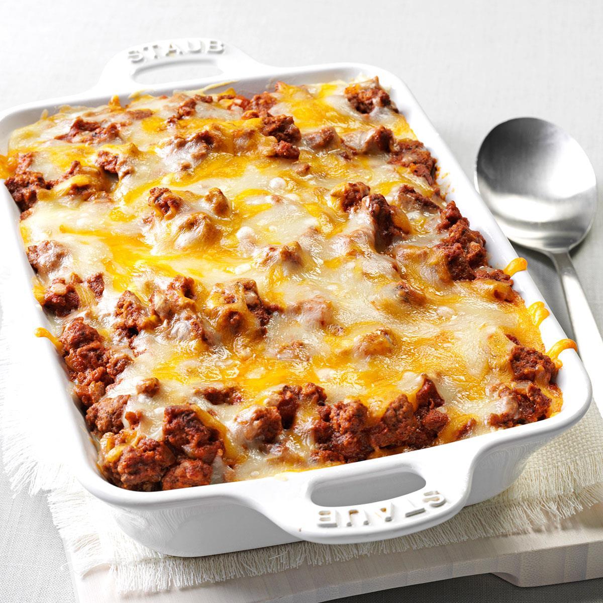 spaghetti pie casserole recipe taste of home rh tasteofhome com