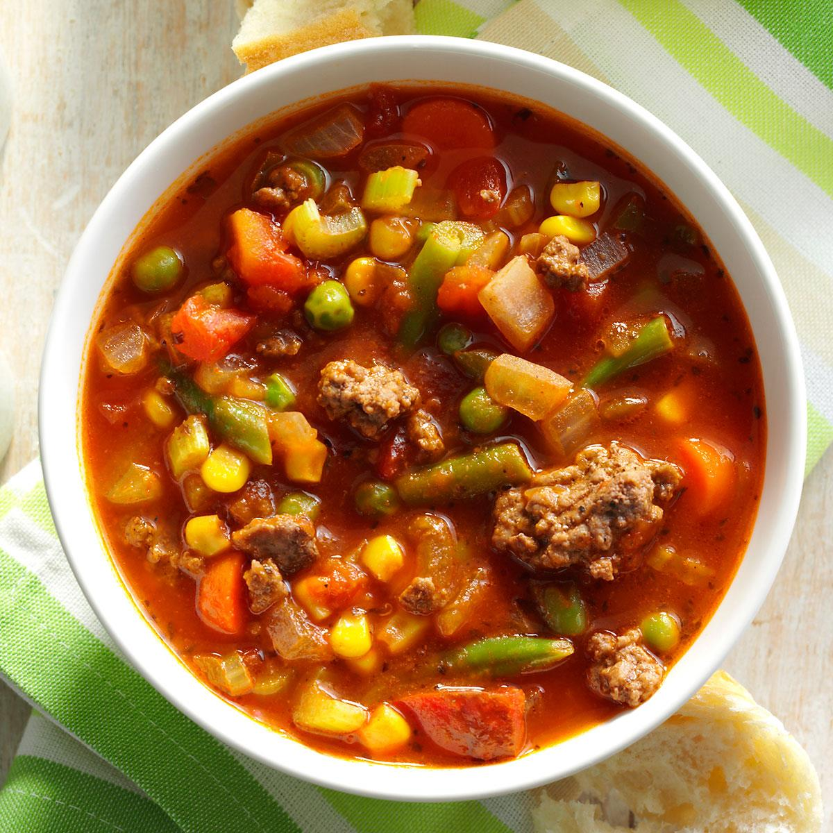 Vegetable soup recipe with ground beef and veg all