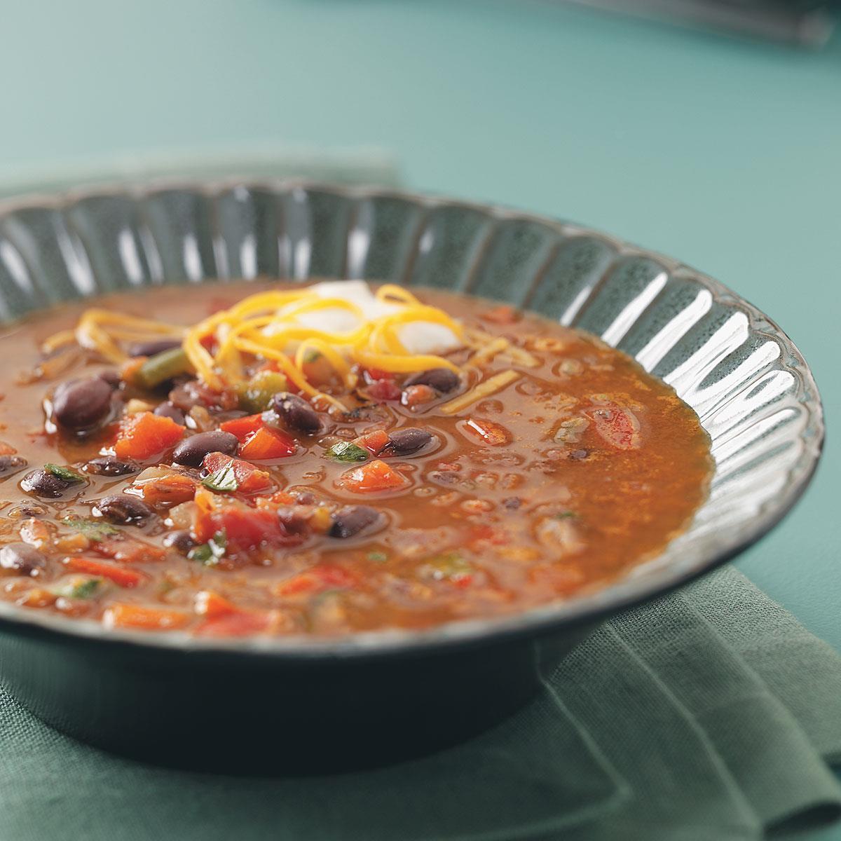 Spicy Black Bean Soup Recipe Taste Of Home