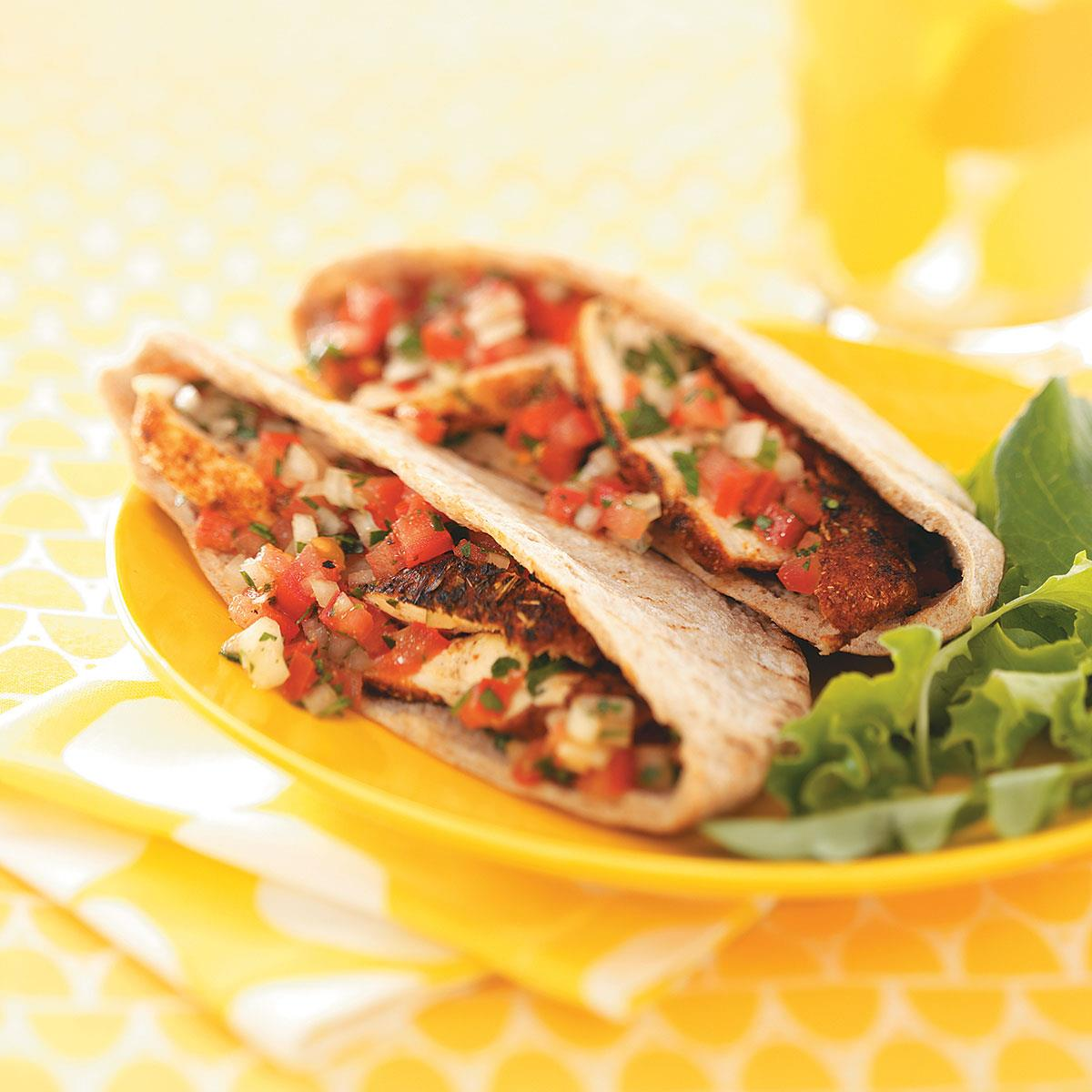 Spicy chicken tomato pitas for two recipe taste of home forumfinder Choice Image