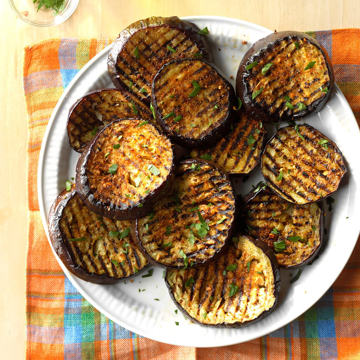 Spicy grilled eggplant recipe taste of home forumfinder Images