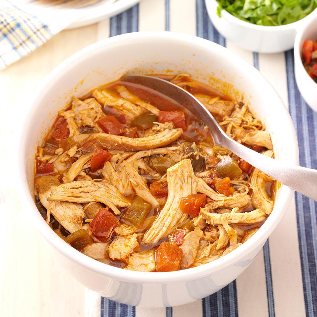 Spicy Shredded Chicken Recipe Taste Of Home