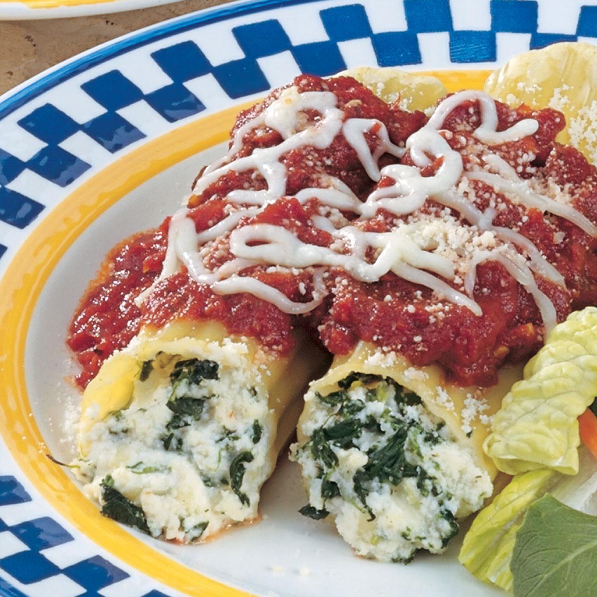 Vendita di liquidazione Raccogliere check-out Spinach Cheese Manicotti