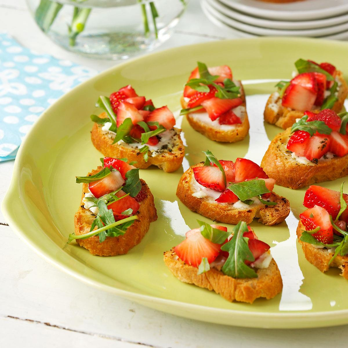 Strawberry Brunch Bruschetta Recipe Taste Of Home