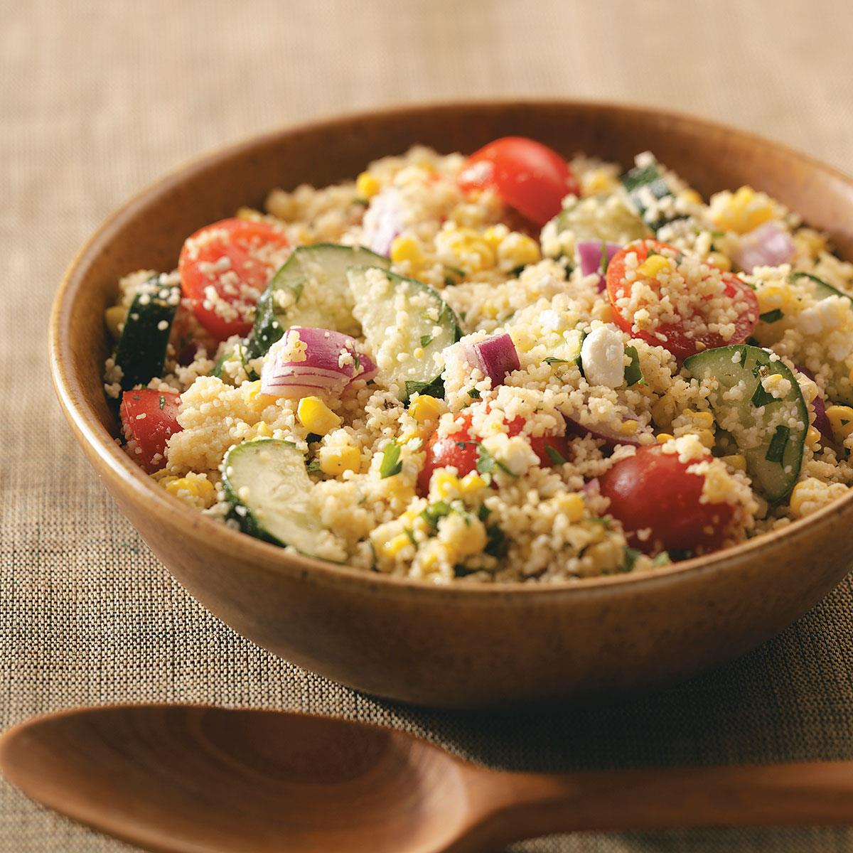 How to make good chicken couscous salad