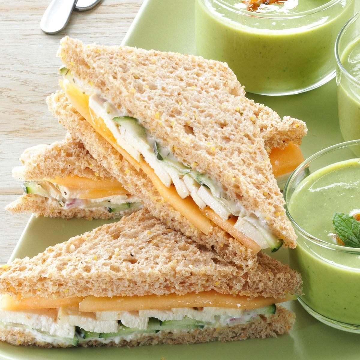 summer tea sandwiches recipe | taste of home