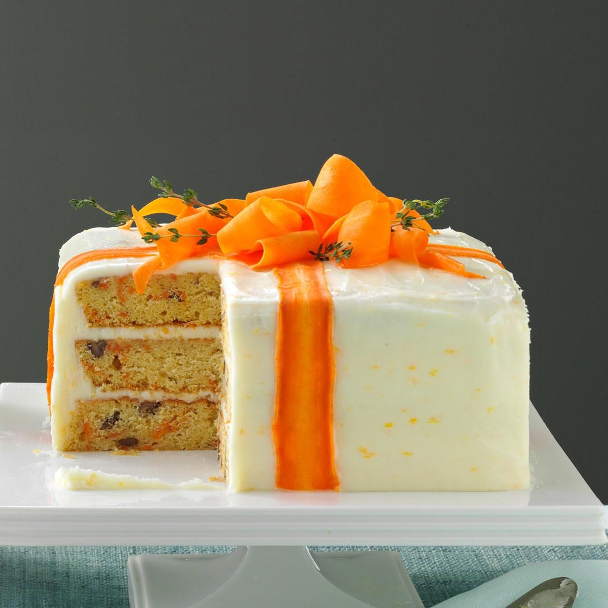 Three Layered Carrot Cake Recipe Taste Of Home