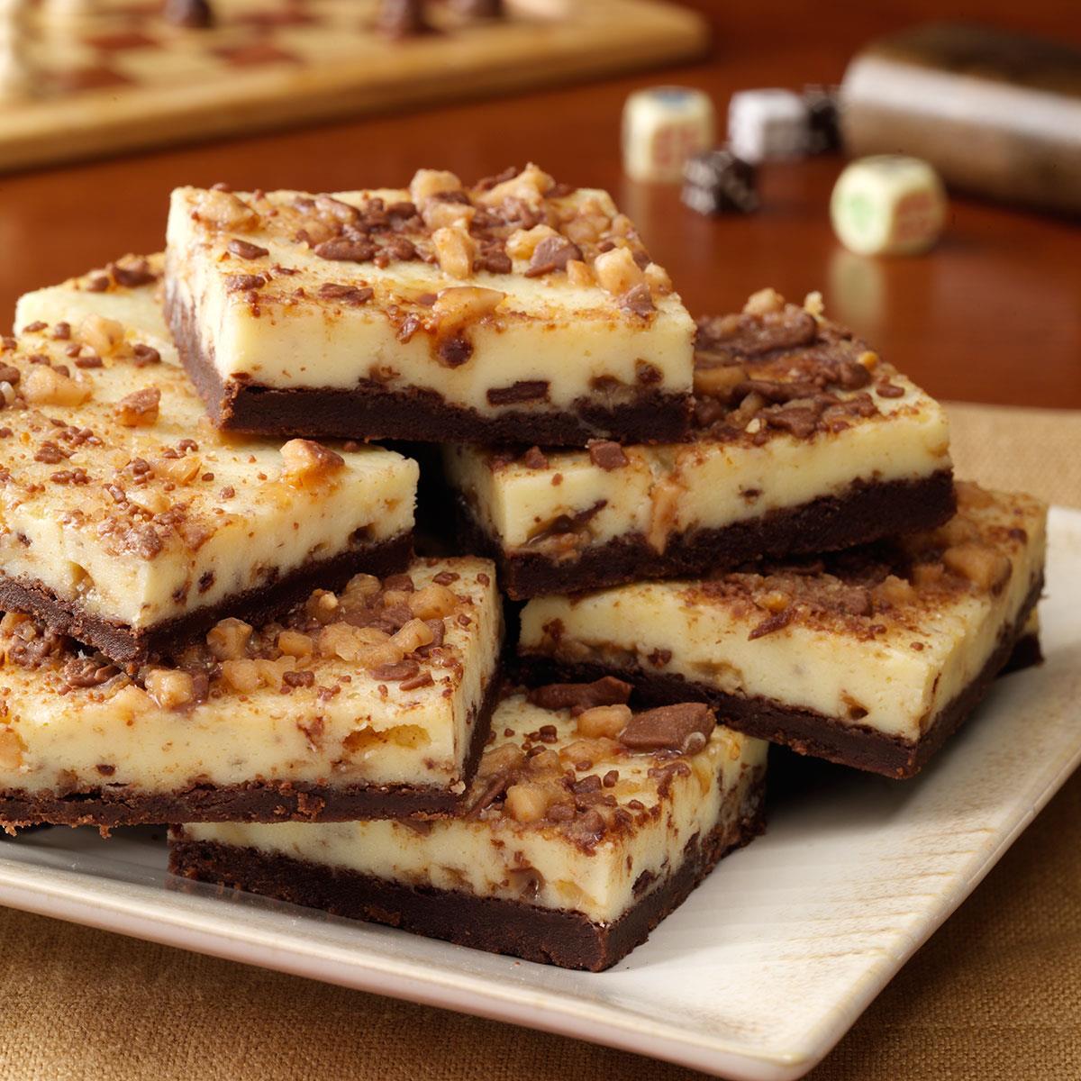 toffee cheesecake bars recipe taste of home