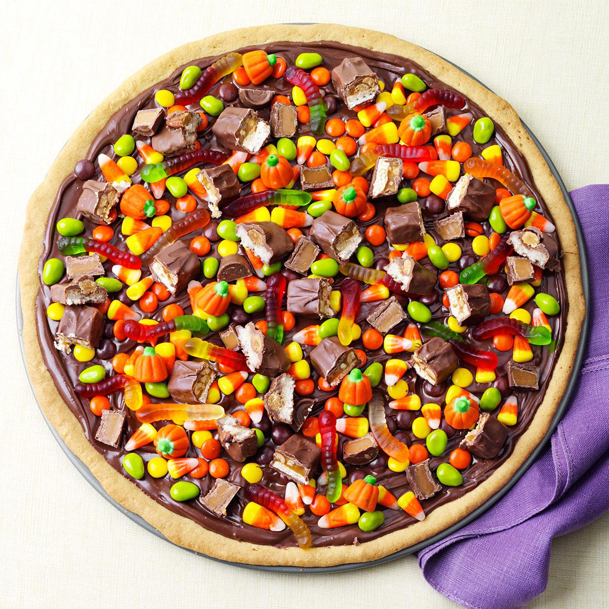 trick-or-treat pizza recipe | taste of home
