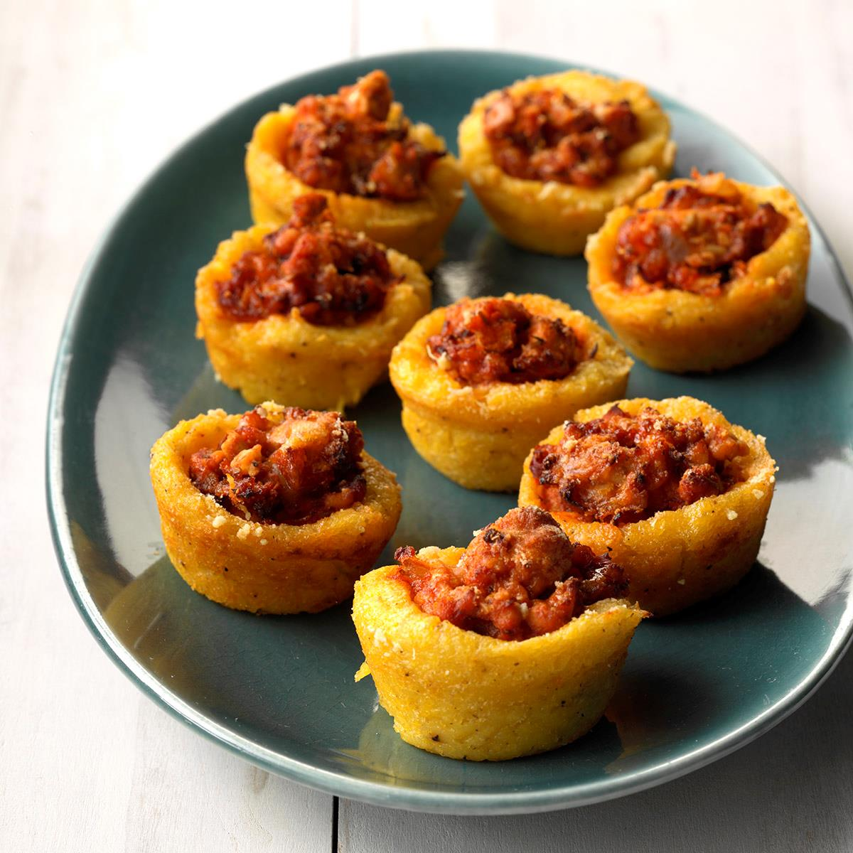 Turkey Bolognese Polenta Nests