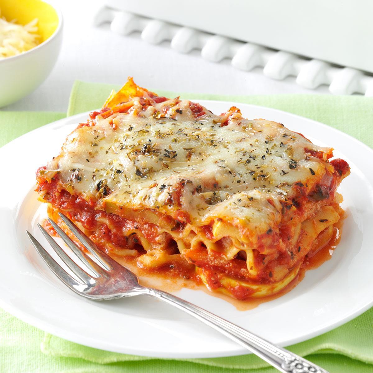 vegetable lasagna recipe taste of home