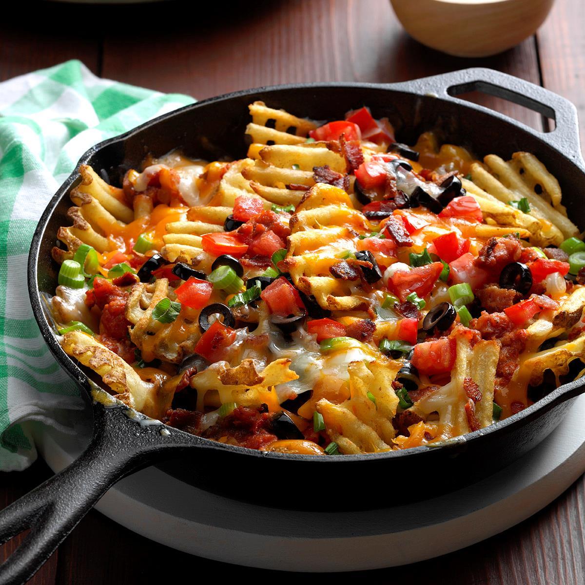 waffle fry nachos recipe taste of home