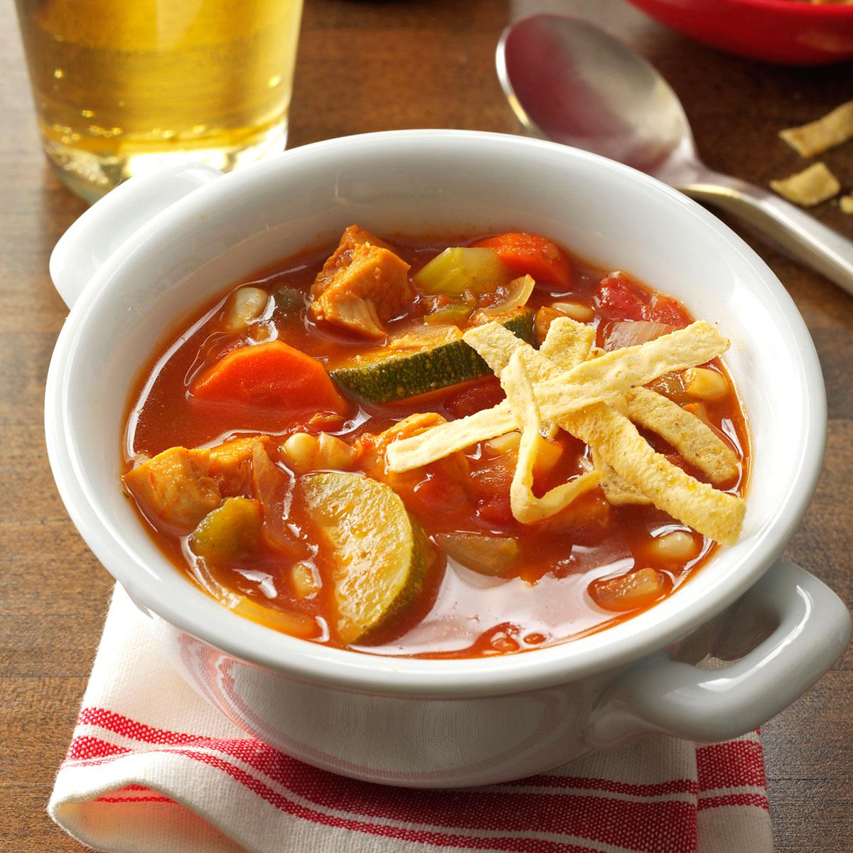 Zesty chicken soup recipe taste of home forumfinder Image collections