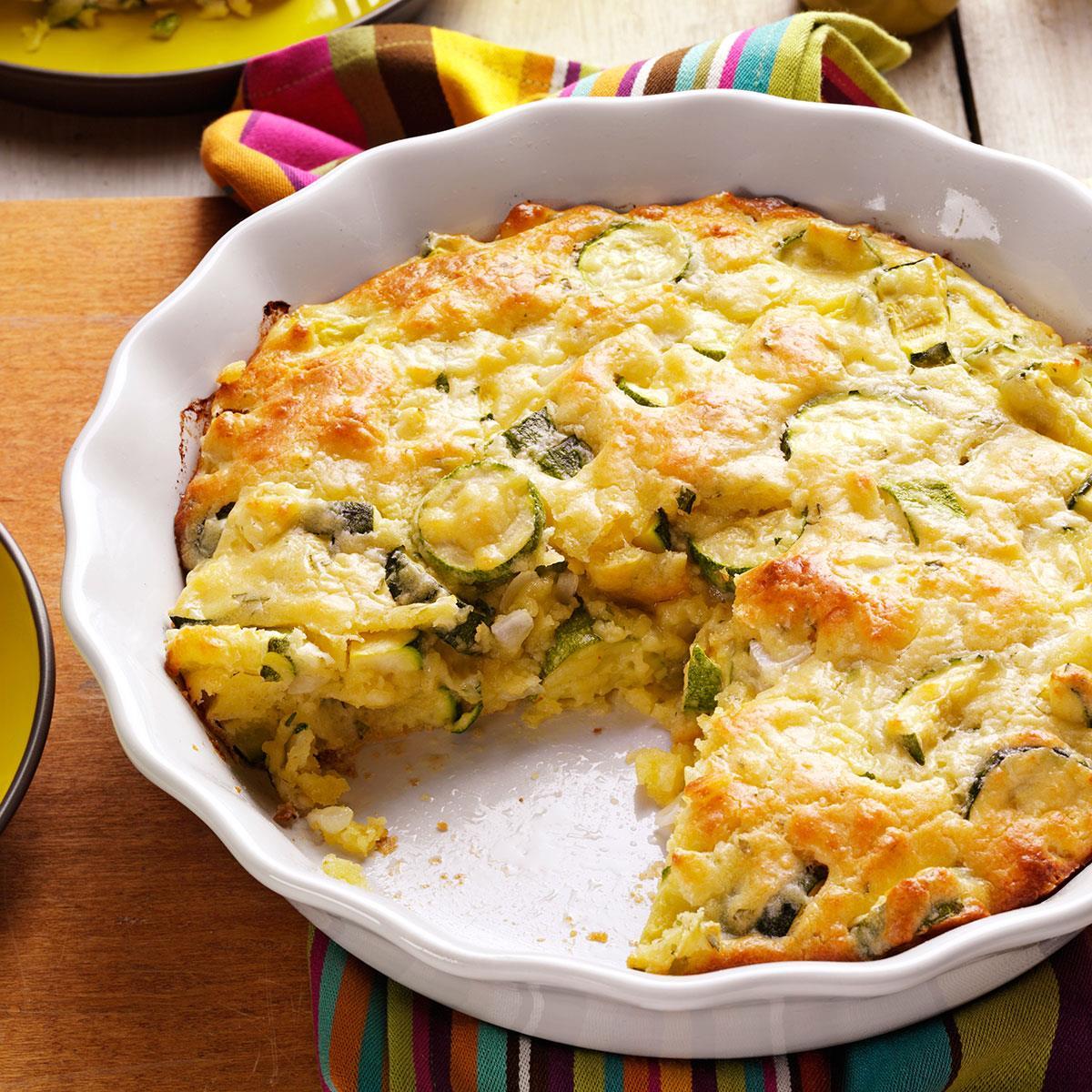 Zucchini onion pie taste of home forumfinder Choice Image