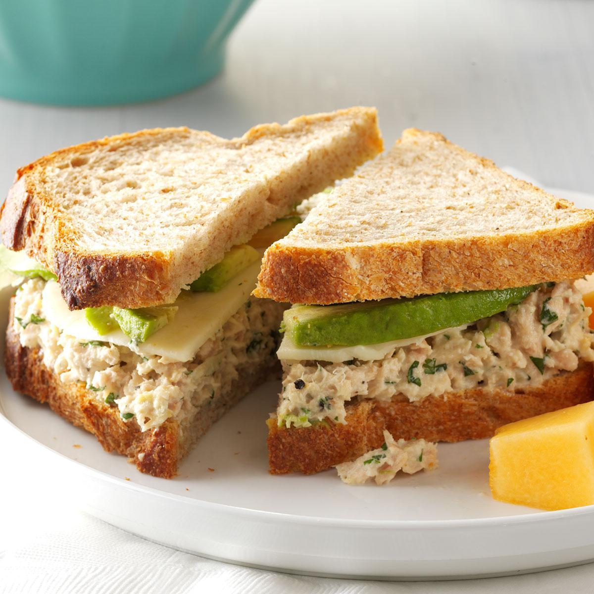 Cilantro Avocado Tuna Salad Sandwiches