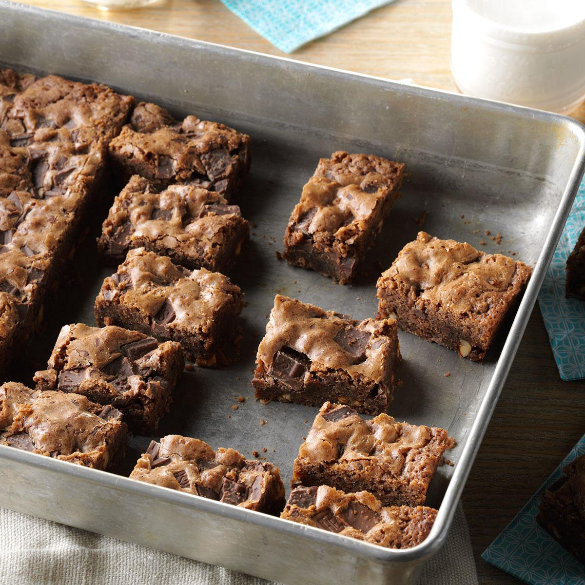candy bar brownies recipe taste of home