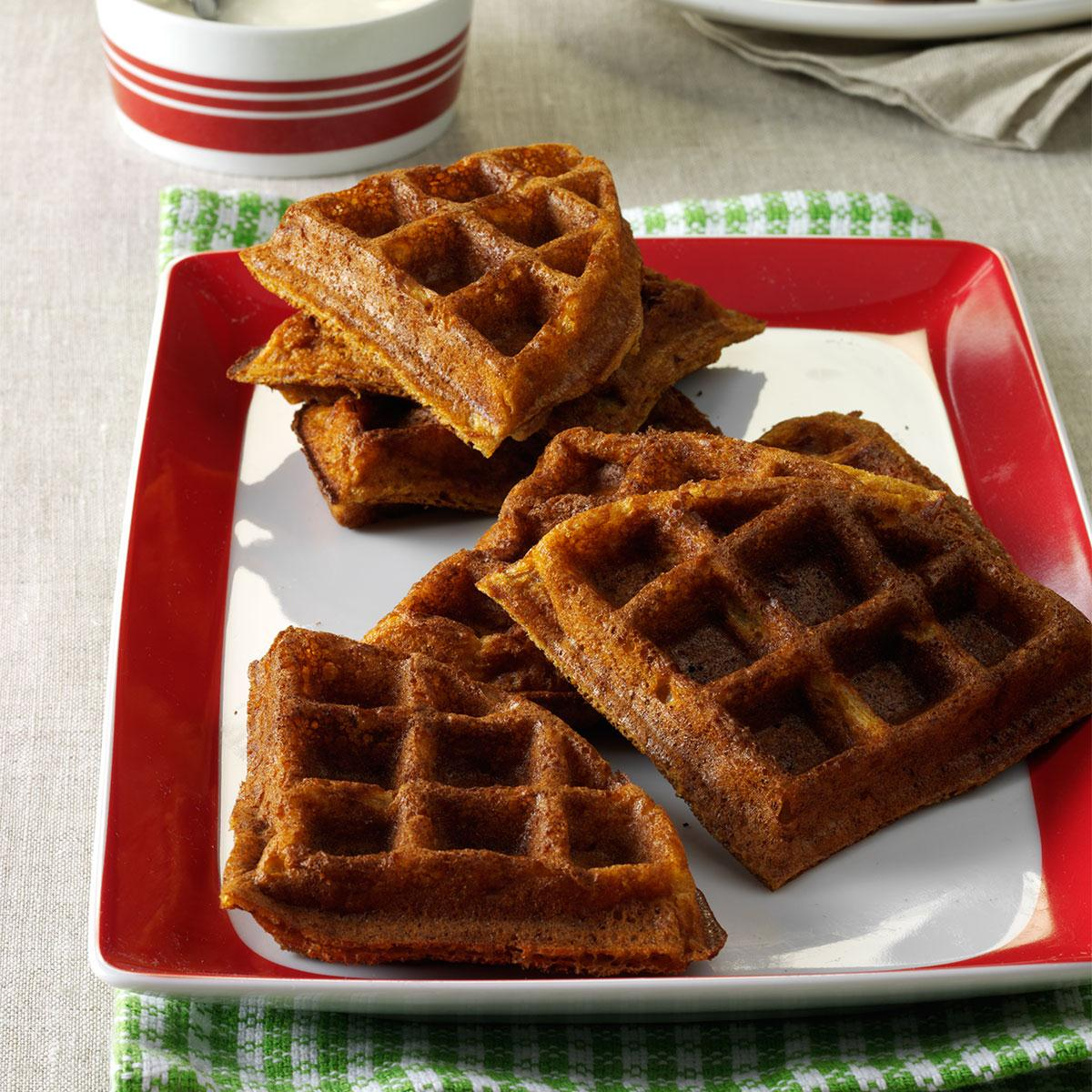 Gingerbread belgian waffles recipe taste of home forumfinder Choice Image