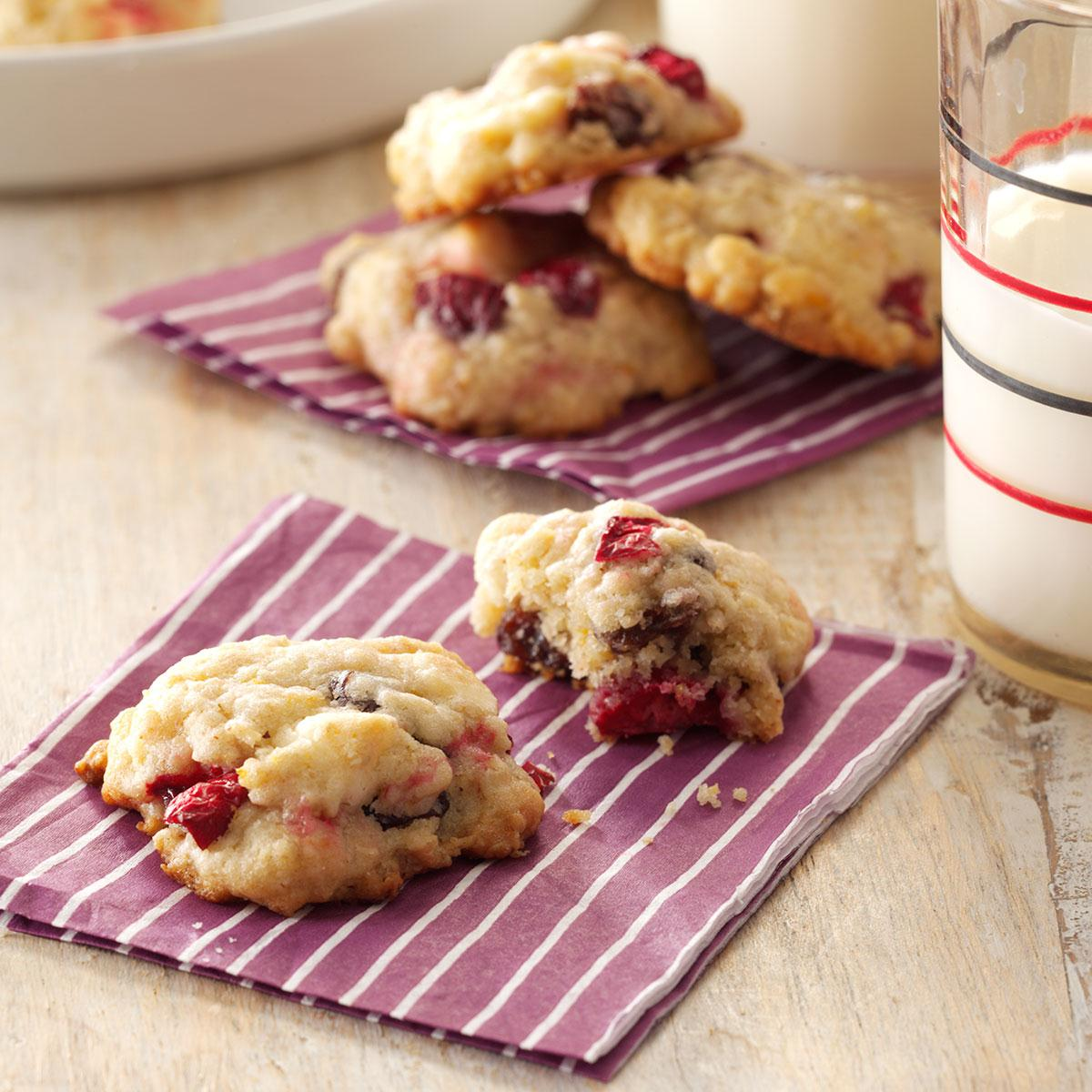 Cranberry Oatmeal Cookies Recipe | Taste of Home
