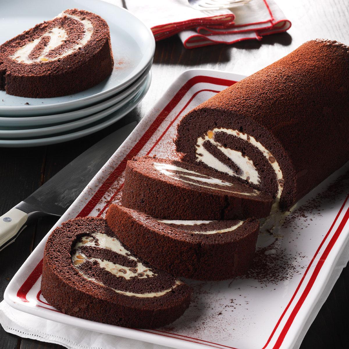 Peanut Butter Chocolate Cake Rolls Taste of Home