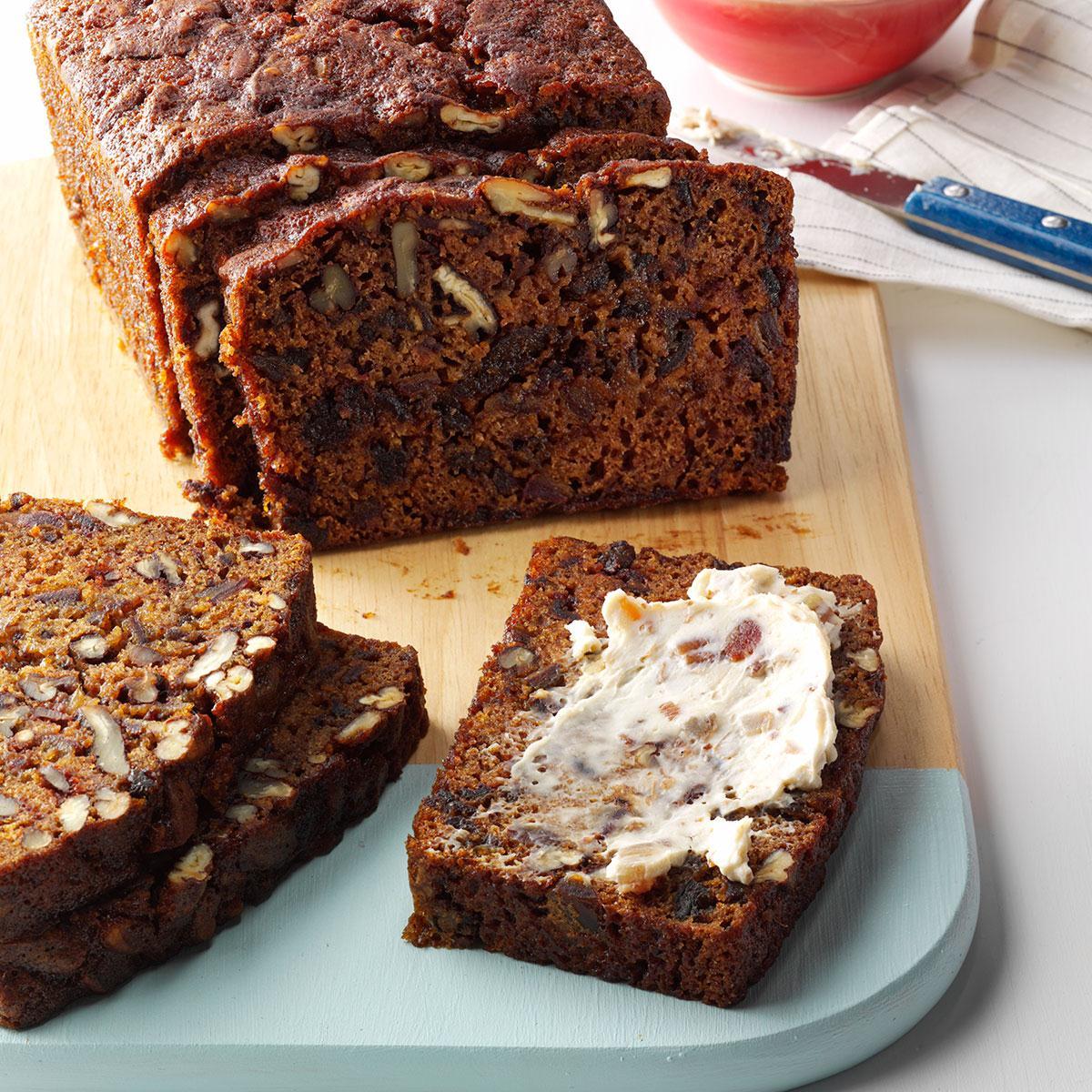 48918c2f5 Date Pecan Tea Bread Recipe | Taste of Home