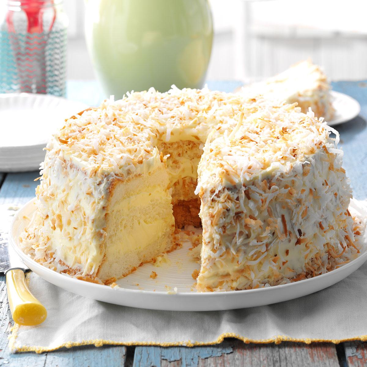 Lime angel food cake recipe taste of home forumfinder Choice Image