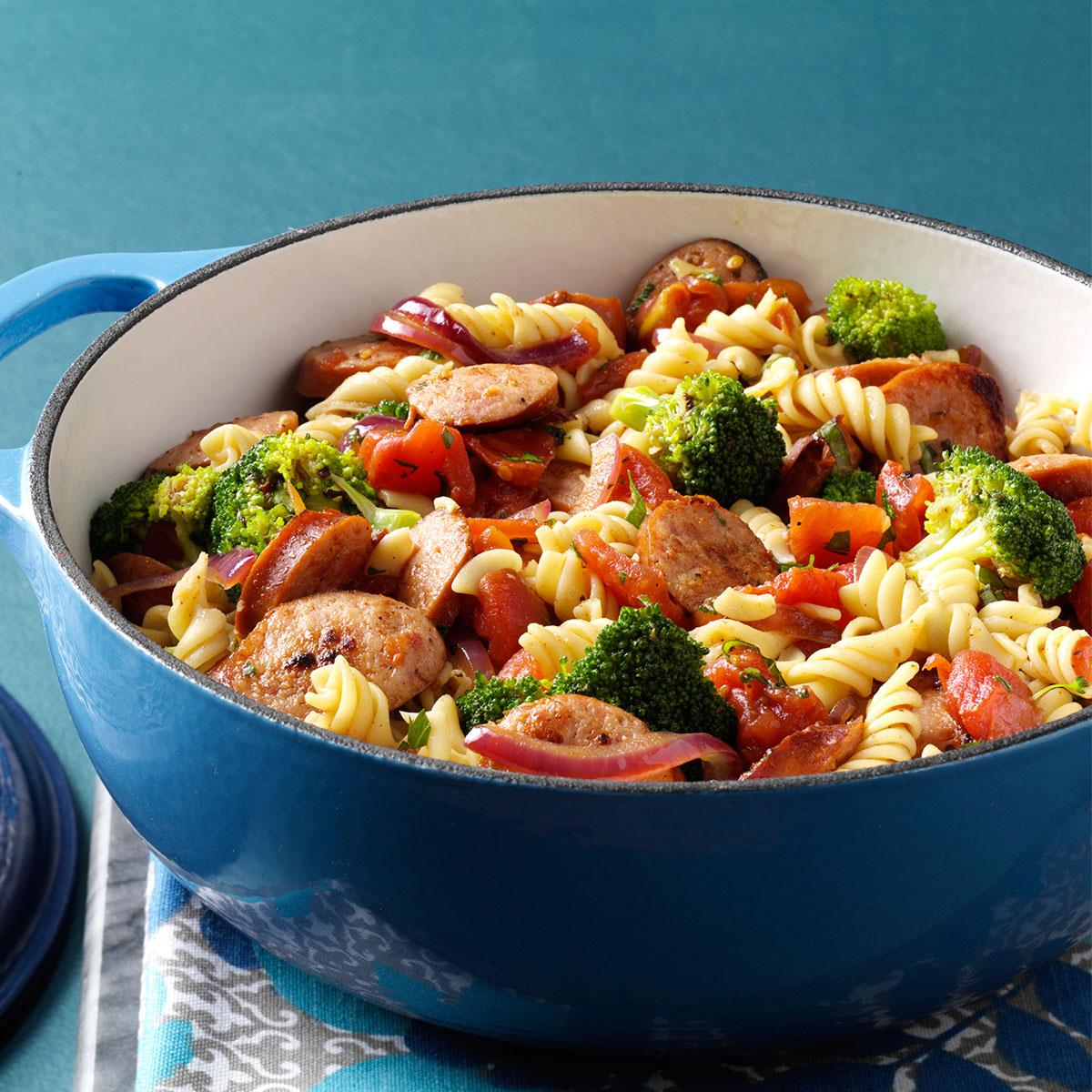 Pasta broccoli sausage simmer recipe taste of home forumfinder Choice Image