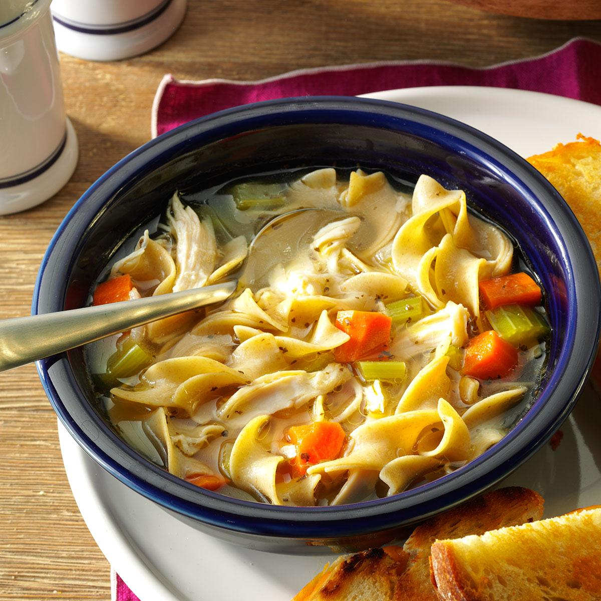 Cold Day Chicken Noodle Soup Recipe Taste Of Home