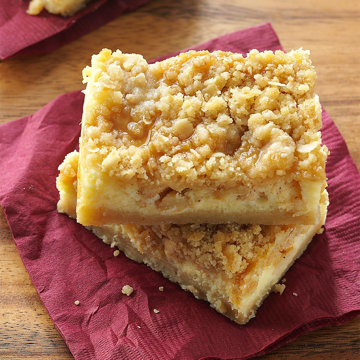 Apple Caramel Cheesecake Bars Recipe Taste Of Home