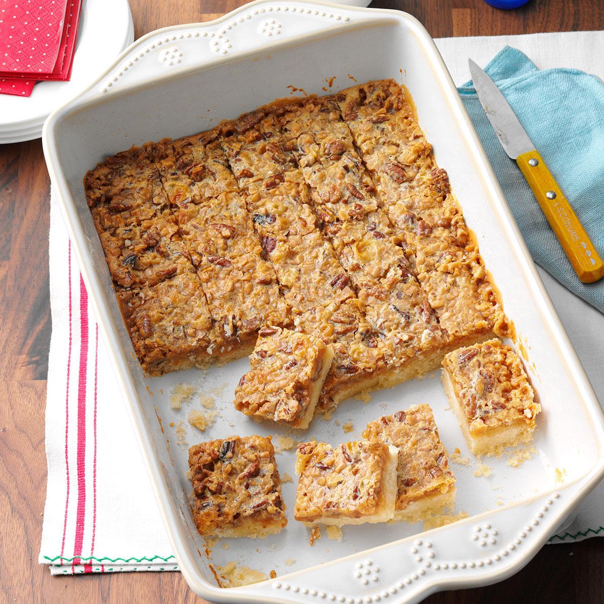 Toffee Pecan Bars Recipe   Taste of Home