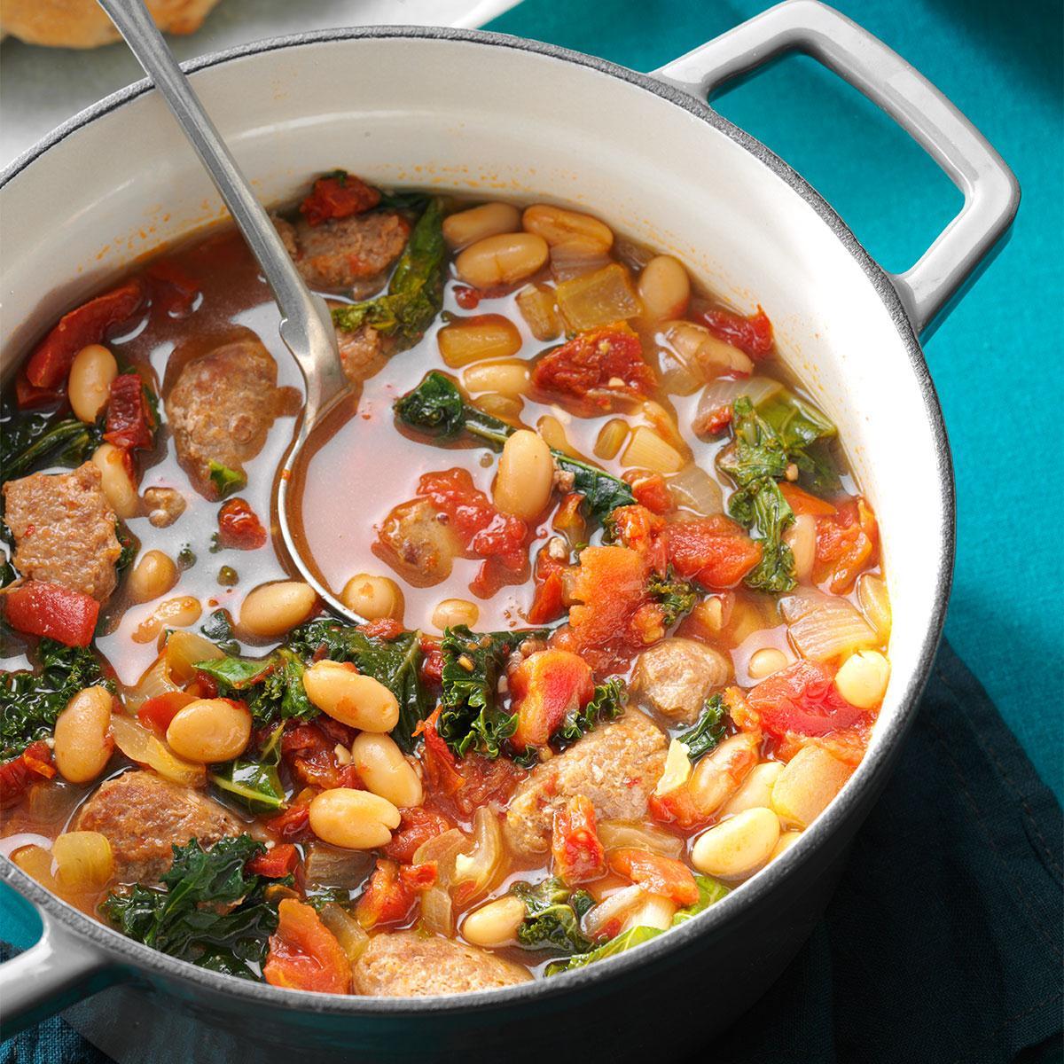 Italian Sausage Kale Soup Recipe Taste Of Home