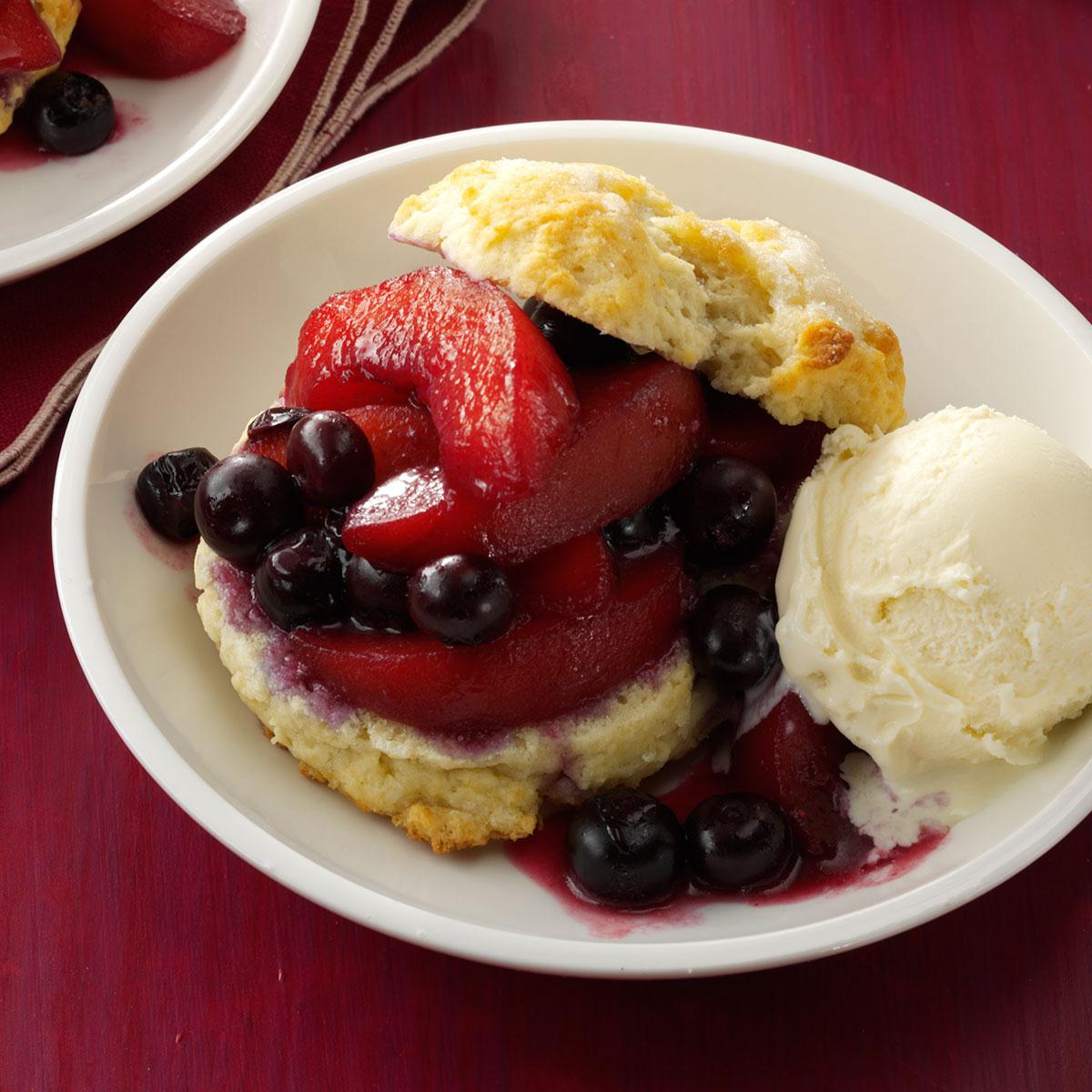 Blueberry-Peach Shortcakes