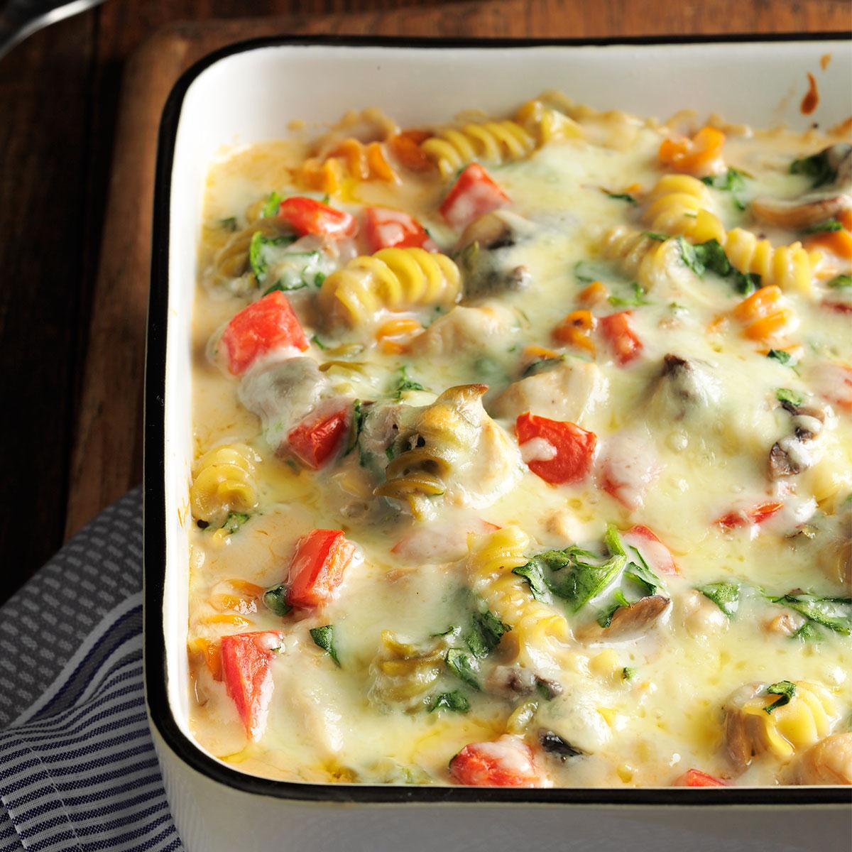 Fontina chicken pasta bake taste of home forumfinder Images