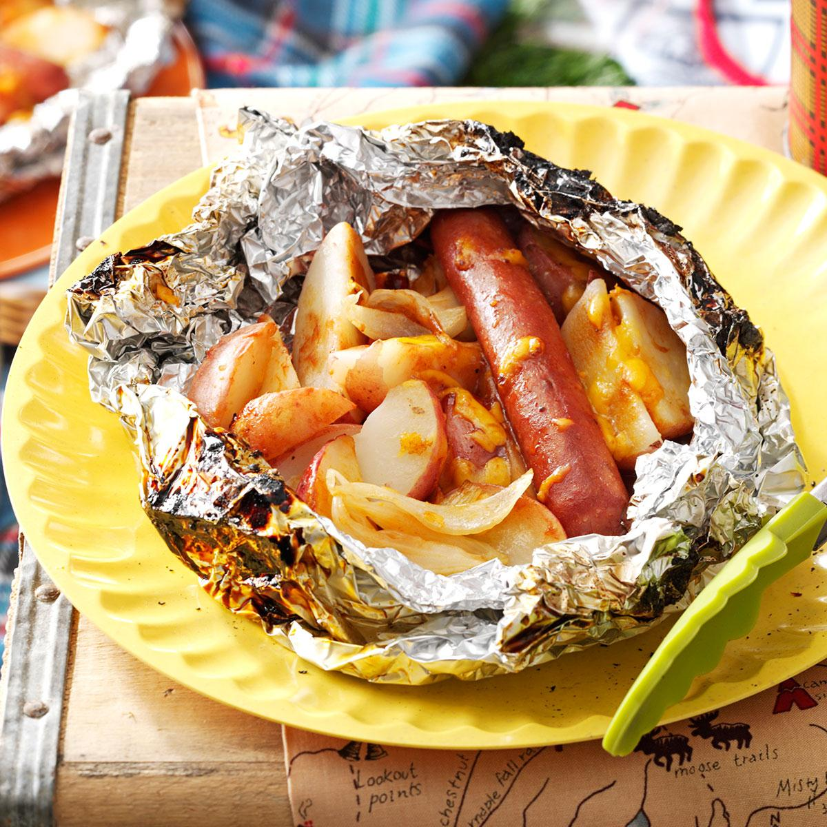 Bake potatoes in foil at home