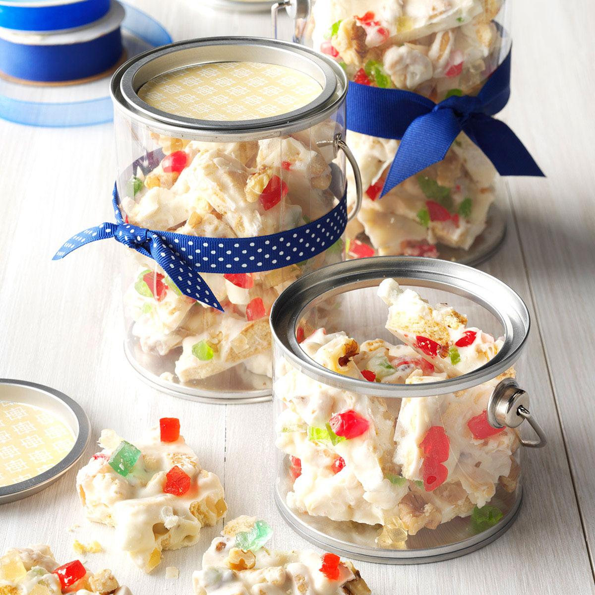 festive holiday fruitcake bark recipe taste of home - Easy Christmas Candy Recipes For Gifts