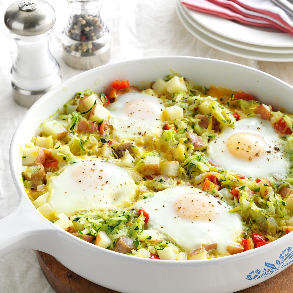 Zucchini egg skillet recipe taste of home forumfinder Choice Image