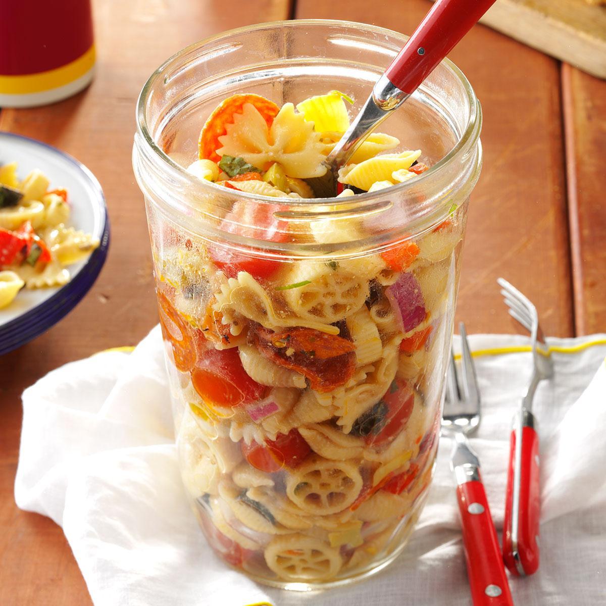 Pasta salad in a jar recipe taste of home forumfinder Gallery
