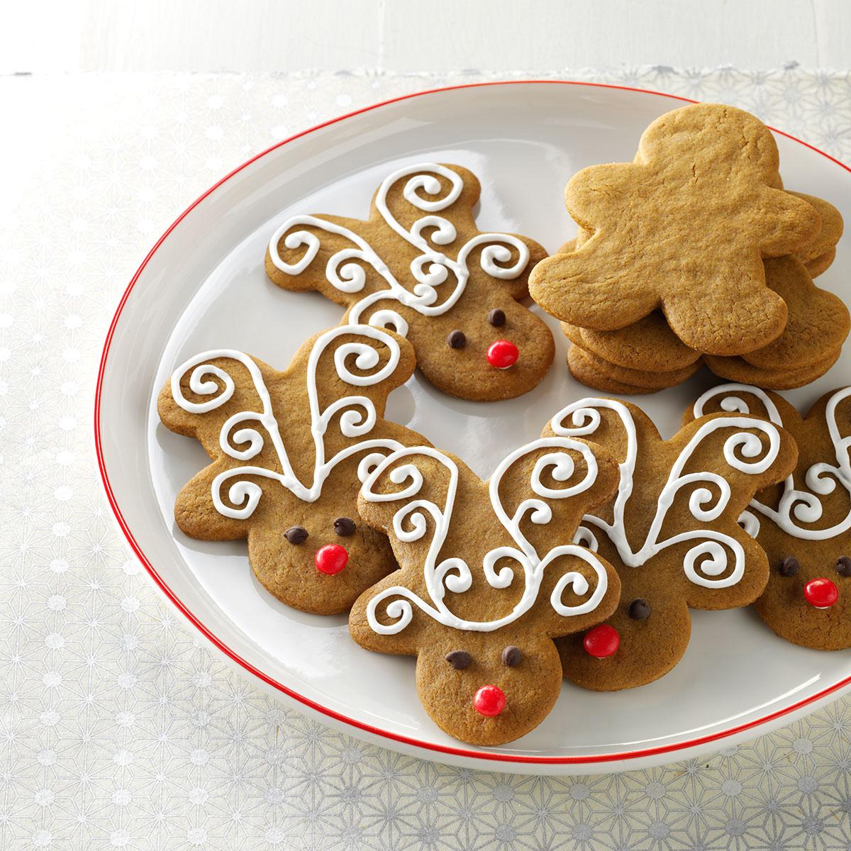jolly ginger reindeer cookies recipe taste of home