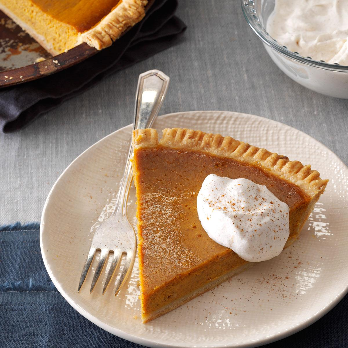 Gingery Pumpkin Pie Recipe | Taste of Home