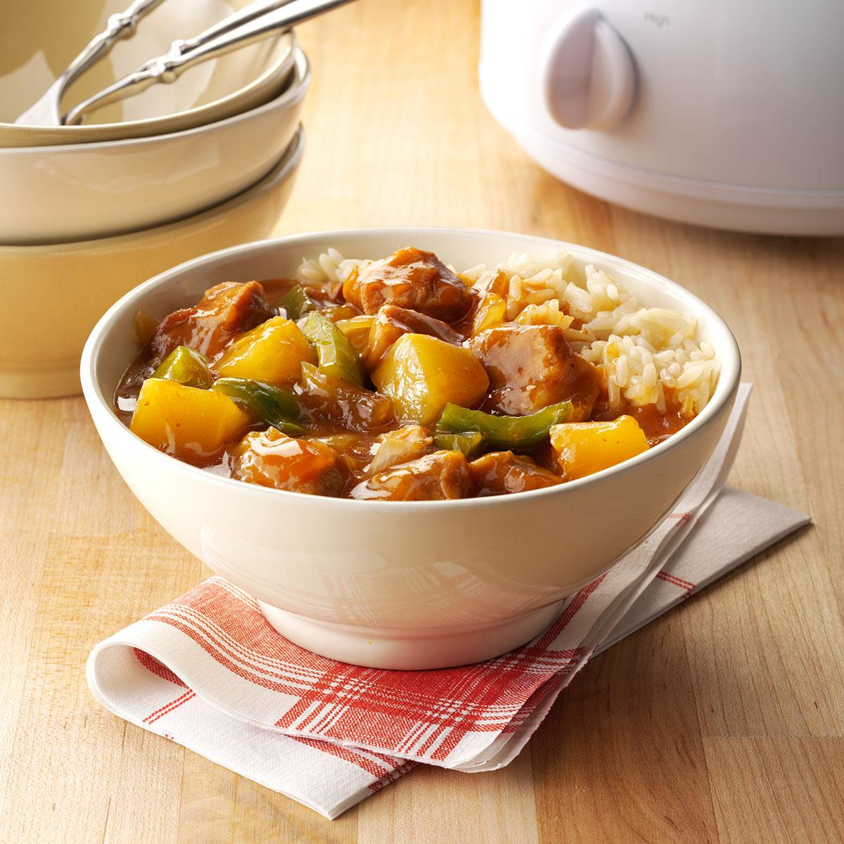 Slow cooker sweet and sour pork recipe taste of home forumfinder Choice Image