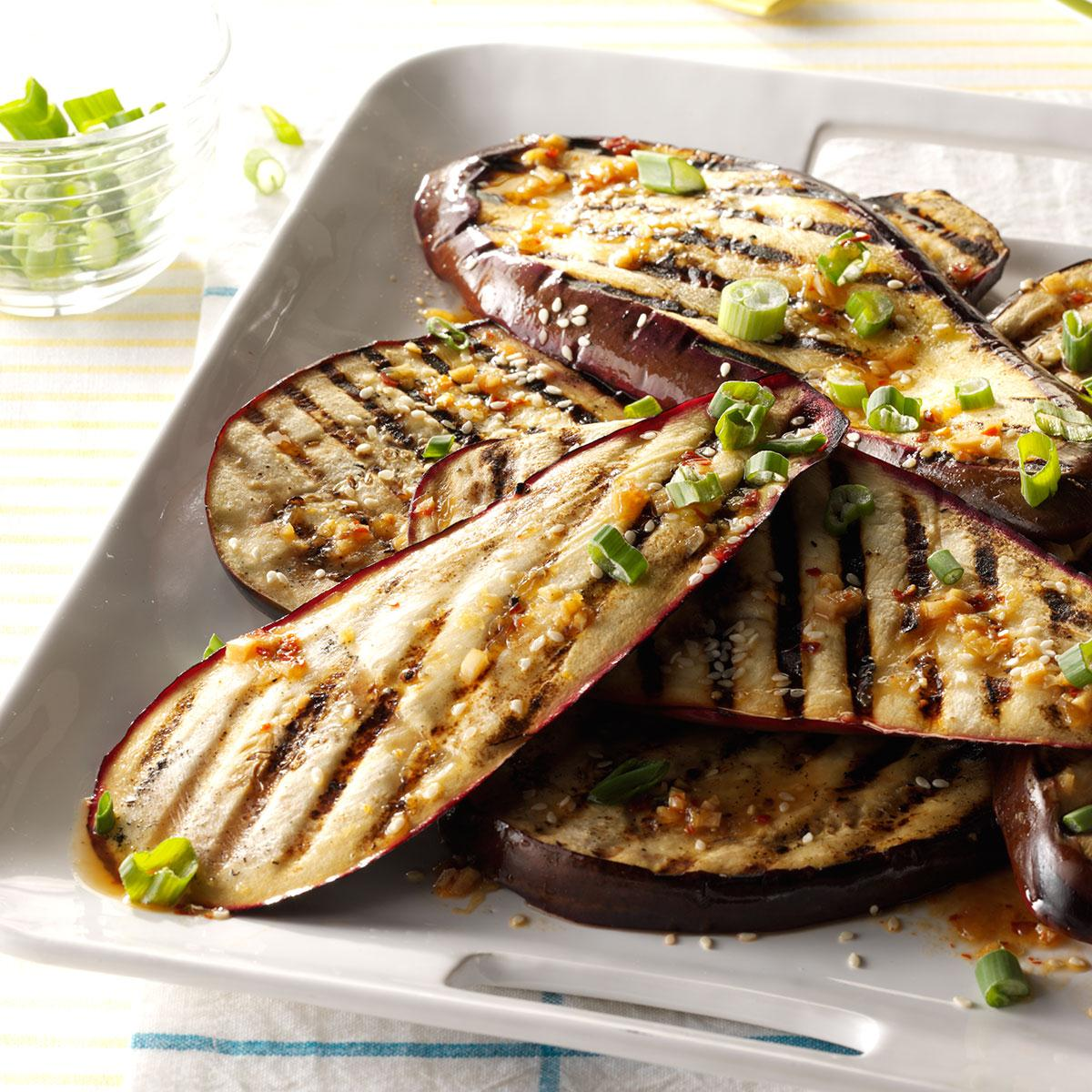 Lime and sesame grilled eggplant recipe taste of home forumfinder Gallery