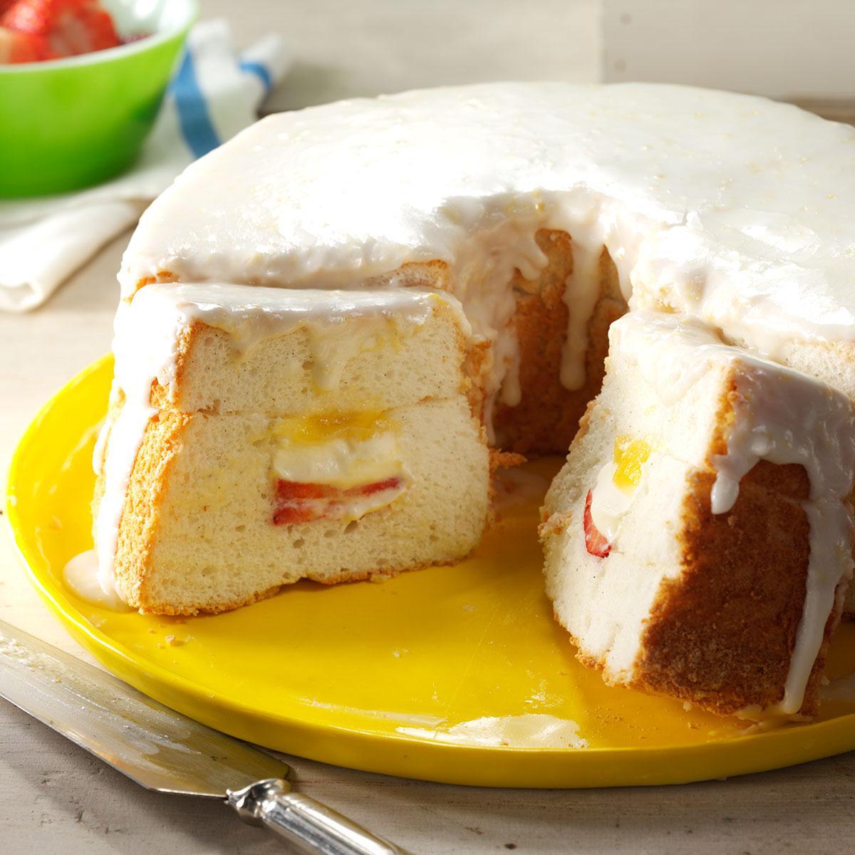 Lemon curd filled angel food cake taste of home forumfinder Gallery