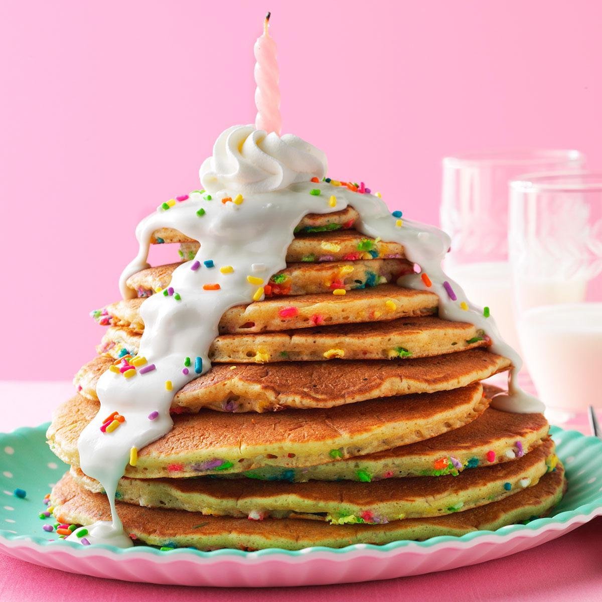 Birthday Cake Pancakes Recipe Taste Of Home