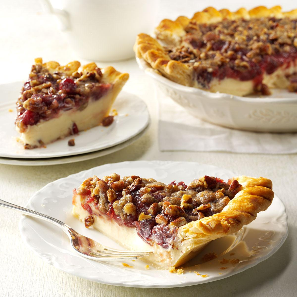 Cranberry cheese crumb pie taste of home forumfinder Images